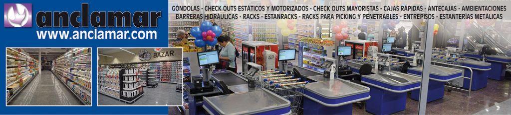 ANCLAMAR INDUSTRIA METALURGICA CHECK OUTS GONDOLAS RACKS ESTANTERIAS ANTECAJAS