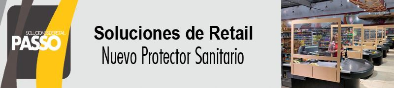 PASSO PRODUCCIONES PROTECTOR SANITARIO PARA CAJEROS COVID-19