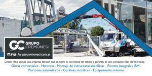 CREMONESI CORTINAS METALICAS PORTONES AUTOMATICOS ESTRUCTURAS METALICAS